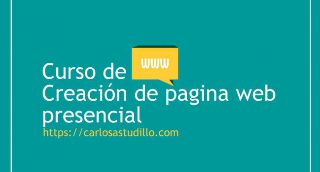 Curso de Creación de Pagina Web Presencial