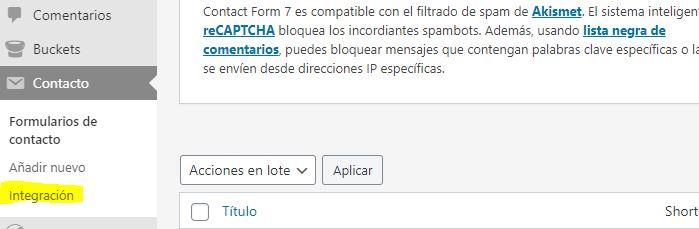 integracion contact form 7