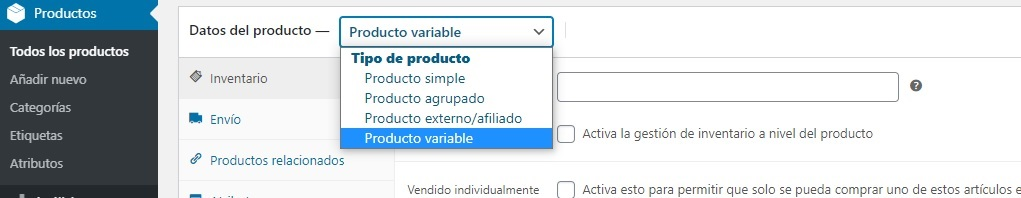 producto-variable-woocommerce
